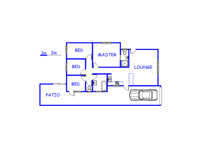 Floor plan of the property in Steenberg