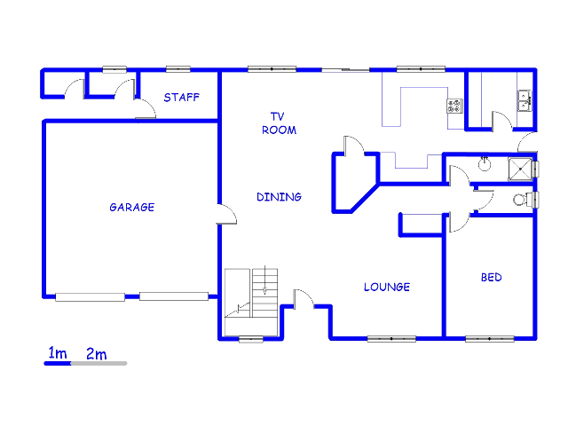 Floor plan of the property in Raslouw