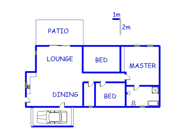Floor plan of the property in Emalahleni