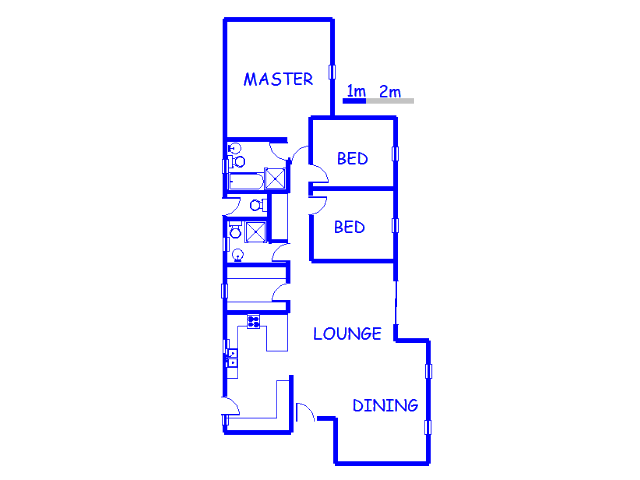 Floor plan of the property in Randparkrif