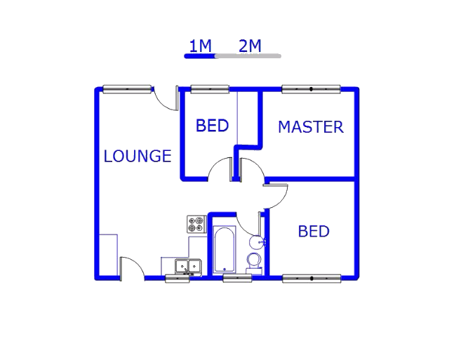 Floor plan of the property in Sebokeng