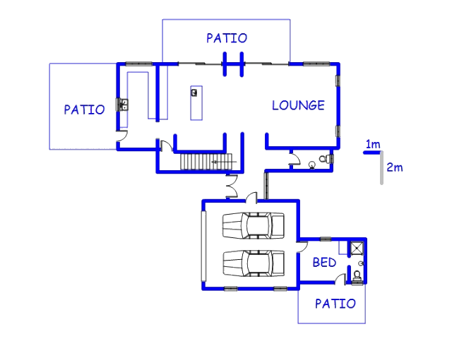 Floor plan of the property in Roodeplaat