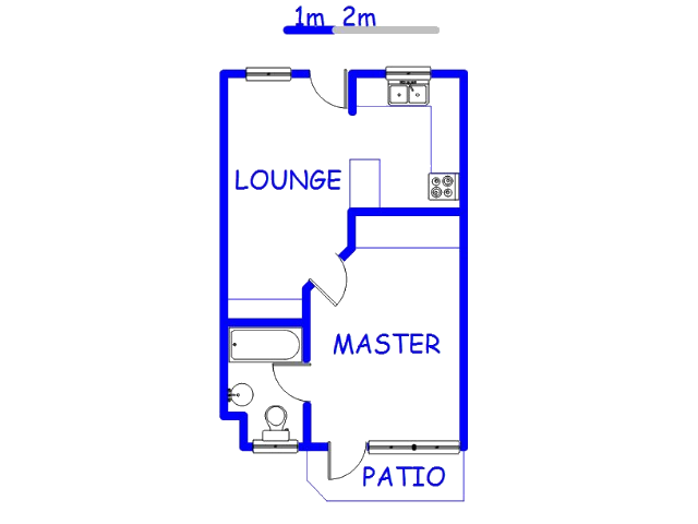 Floor plan of the property in Hatfield