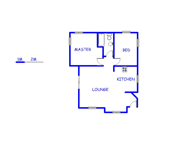 Floor plan of the property in Discovery