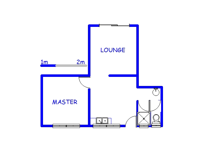 Floor plan of the property in Greenbury