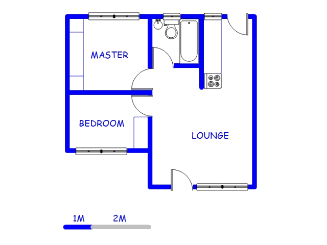 Floor plan of the property in Sharonlea