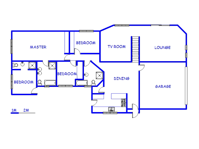 Floor plan of the property in Noordheuwel