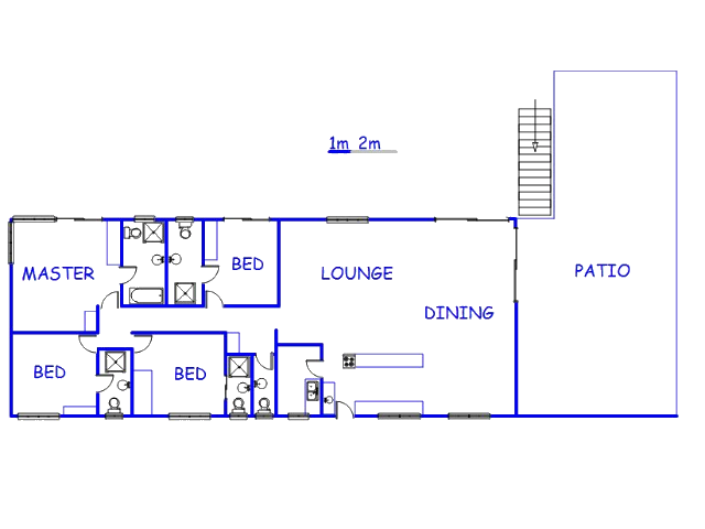 Floor plan of the property in Buffelspoort