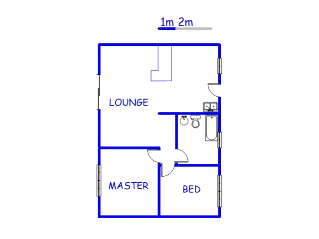 Floor plan of the property in Richards Bay