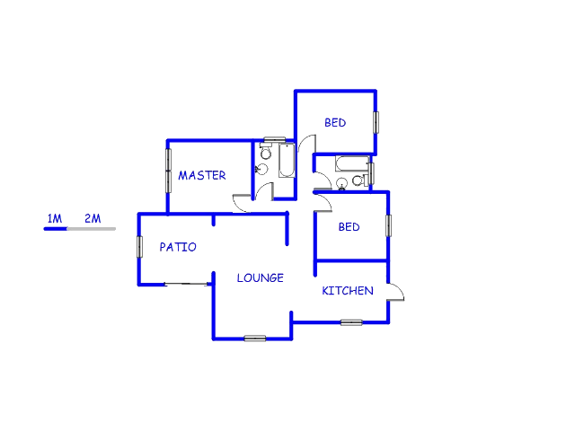 Floor plan of the property in North Riding A.H.