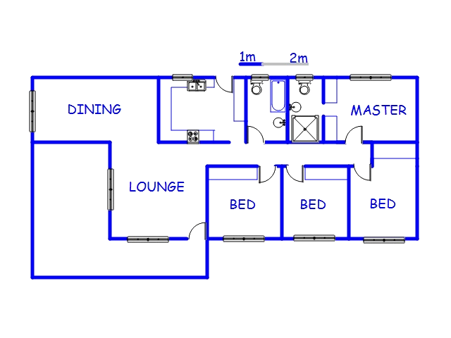 Floor plan of the property in Tugela Estates