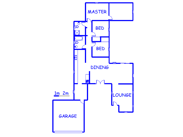 Floor plan of the property in Vereeniging