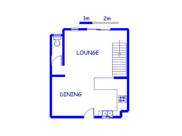 Floor plan of the property in Eden Glen