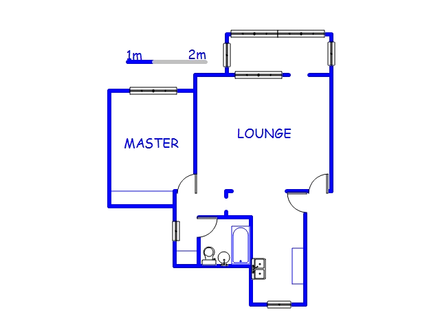 Floor plan of the property in New Germany