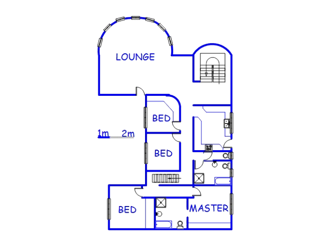 Floor plan of the property in Umzinto