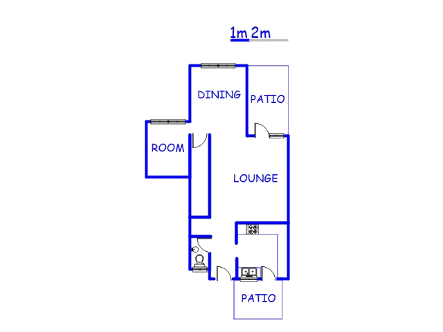 Floor plan of the property in Elandsrand