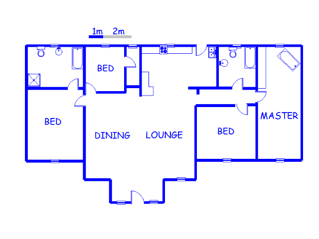 Floor plan of the property in Rensburg