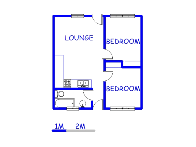 Floor plan of the property in Moffat View