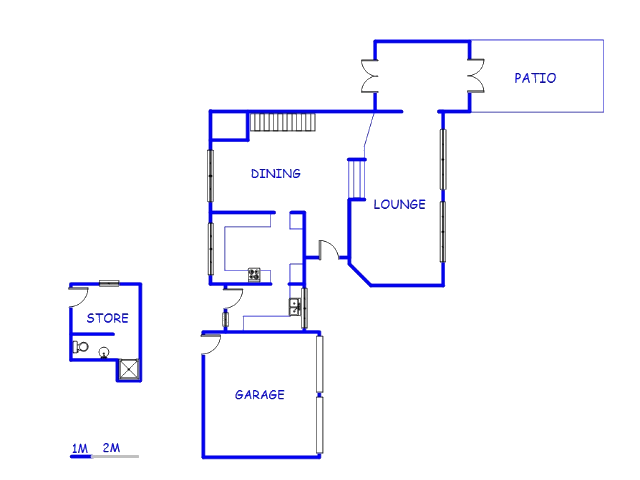 Floor plan of the property in Wilropark