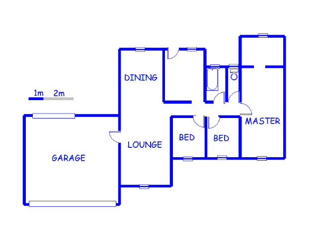 Floor plan of the property in Dawn Park