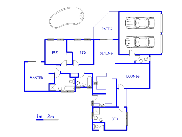 Floor plan of the property in Wapadrand