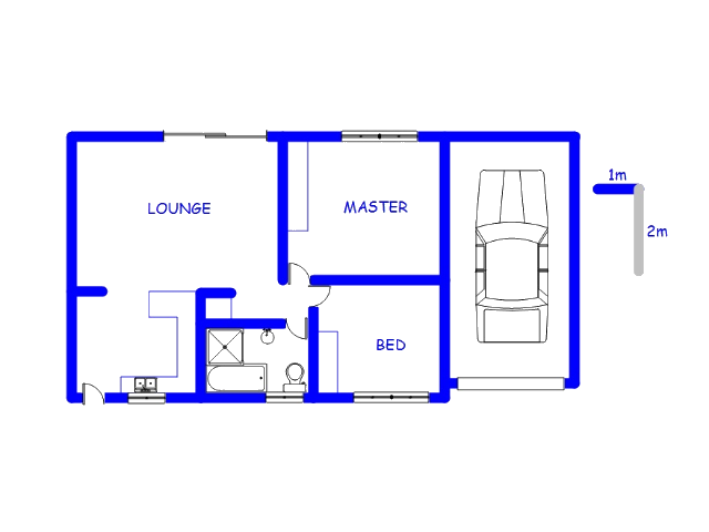 Floor plan of the property in Weavind Park
