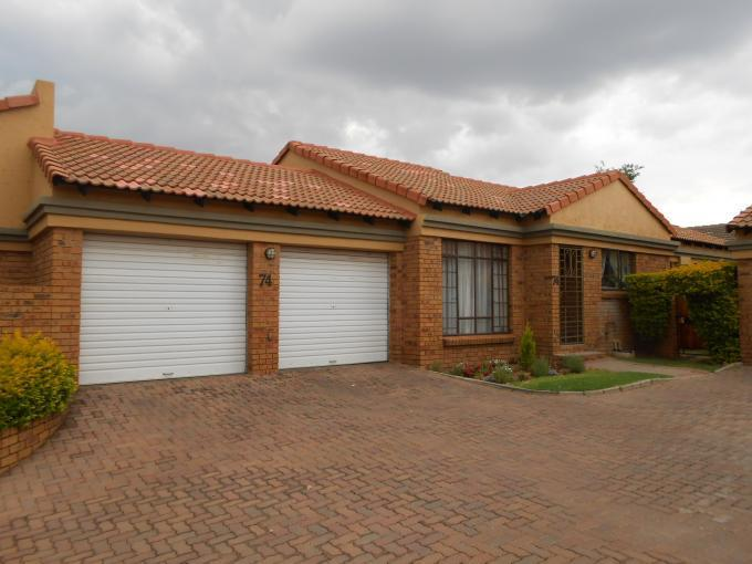 3 Bedroom Sectional Title for Sale For Sale in Equestria - Private Sale - MR118942