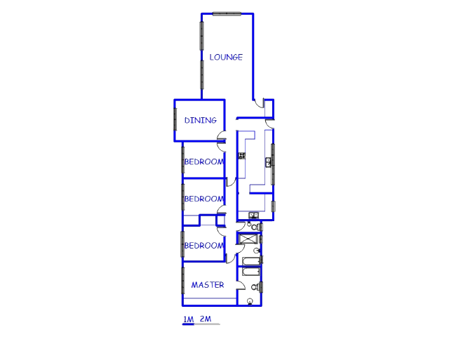 Floor plan of the property in Helikon Park