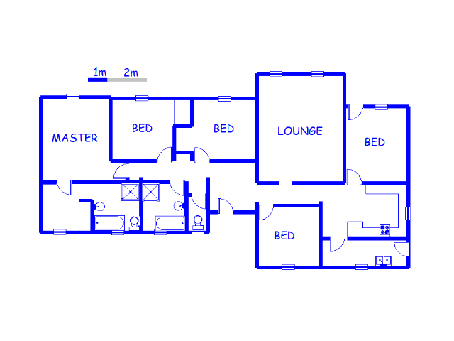 Floor plan of the property in Lilyvale AH