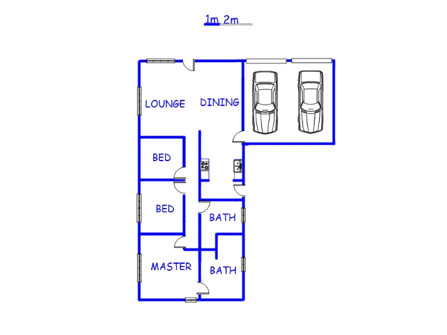 Floor plan of the property in Aerorand - MP