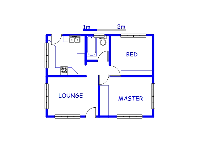 Floor plan of the property in Ntuzuma