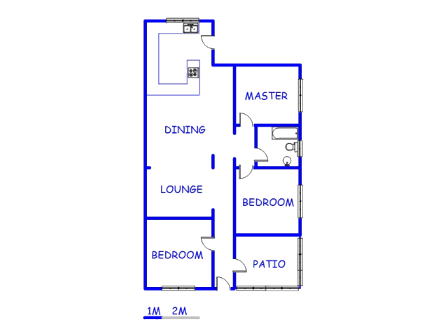 Floor plan of the property in Brixton