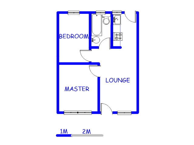 Floor plan of the property in Rabie Ridge
