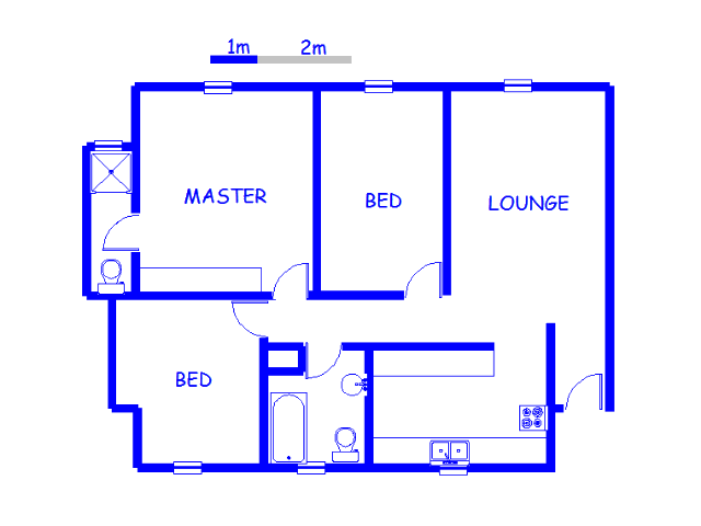 Floor plan of the property in Witfield