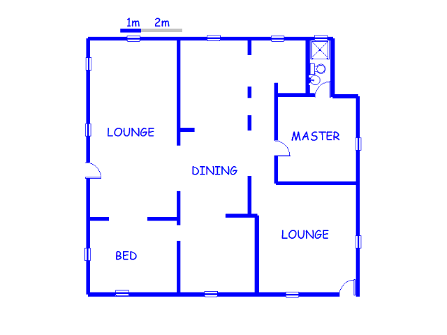 Floor plan of the property in Rand Collieries Sh