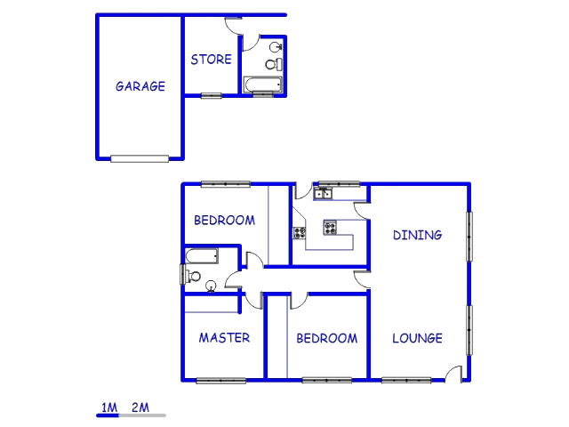 Floor plan of the property in Hamberg