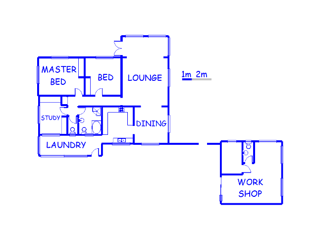 Floor plan of the property in Blythedale
