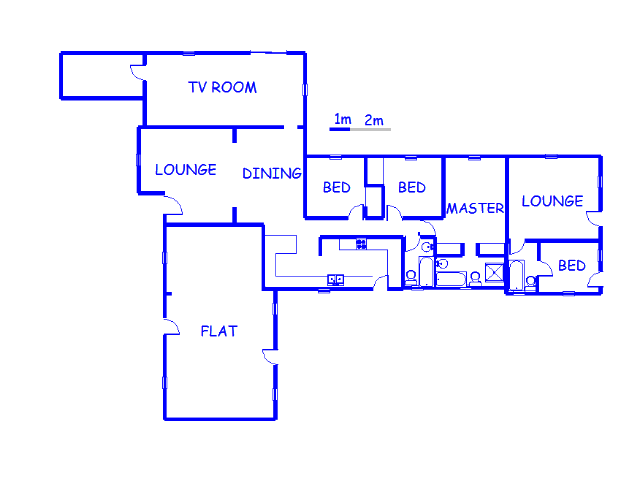 Floor plan of the property in Marlands