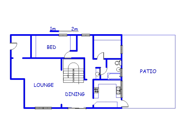 Floor plan of the property in Tongaat