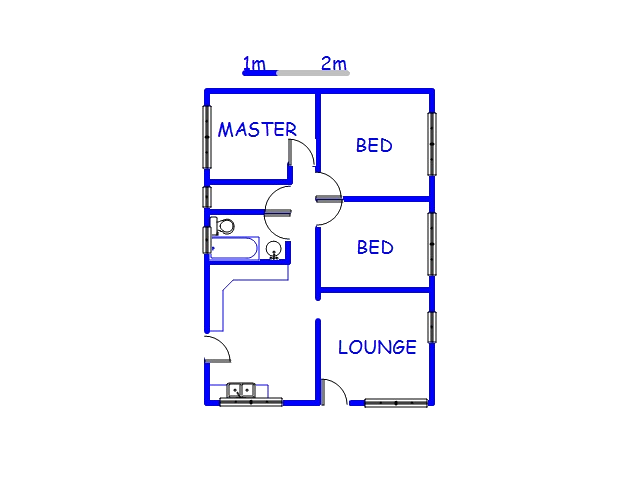 Floor plan of the property in Phoenix