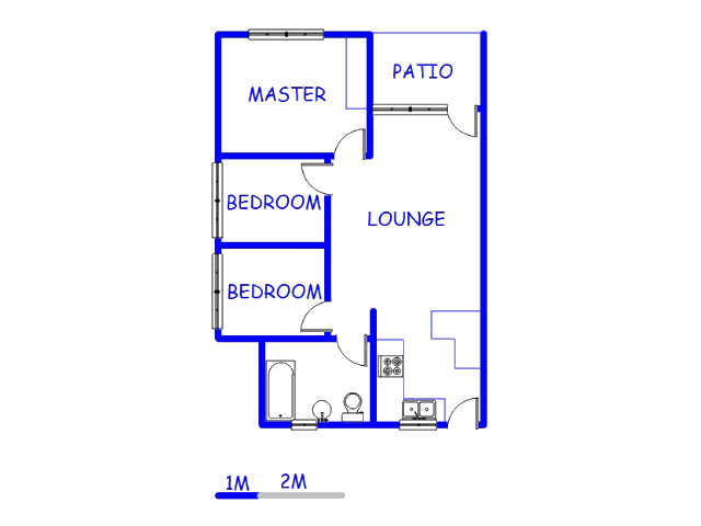 Floor plan of the property in Carenvale