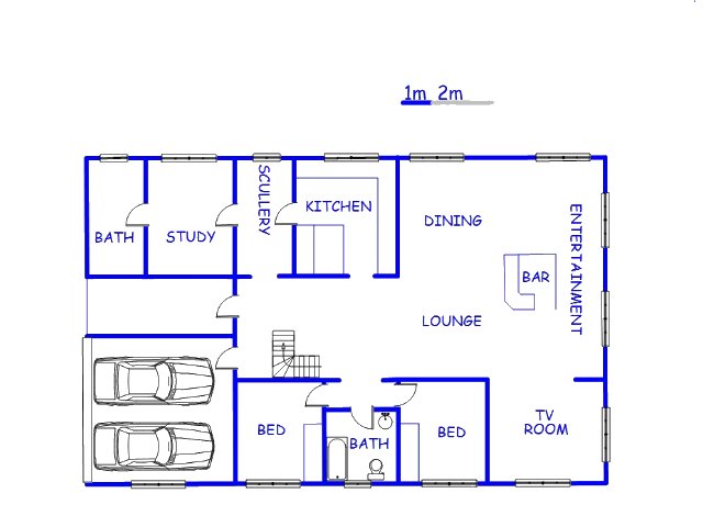Floor plan of the property in Gonubie