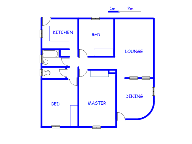 Floor plan of the property in Horison