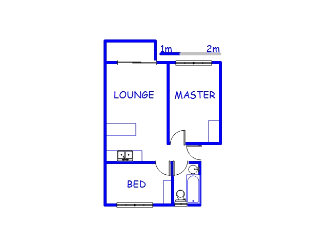 Floor plan of the property in Woodlands - DBN