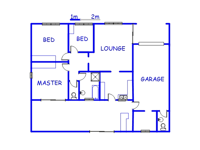 Floor plan of the property in Umlazi