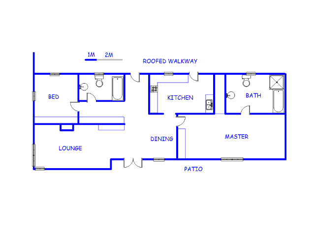 Floor plan of the property in Strubenvale