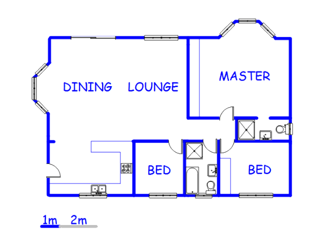 Floor plan of the property in Sunnydale