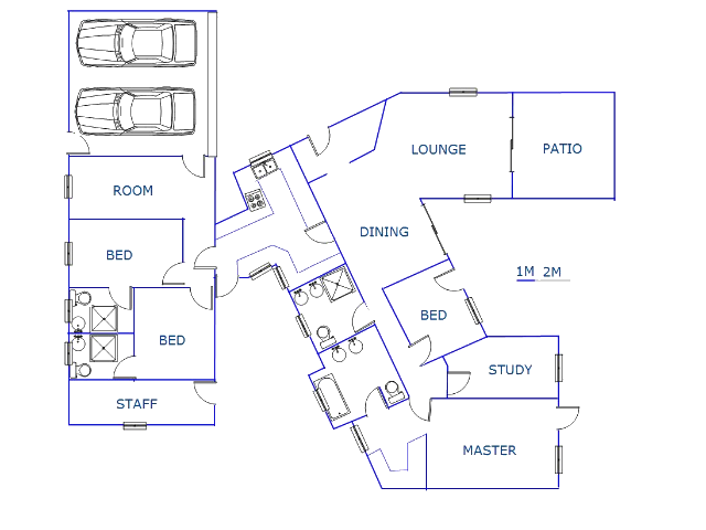 Floor plan of the property in Silver Lakes Estate