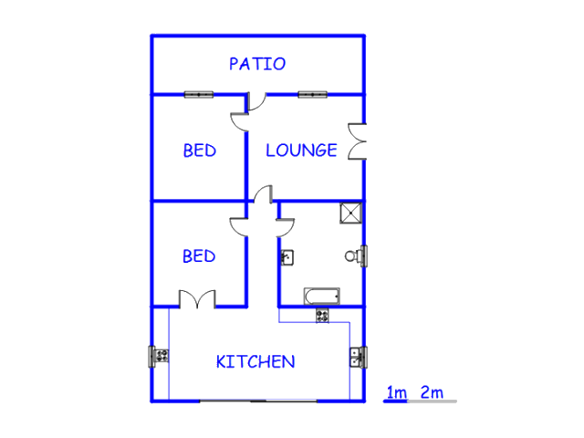 Floor plan of the property in Loxton