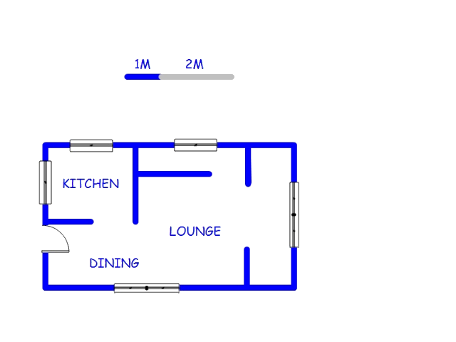 Floor plan of the property in Faerie Glen